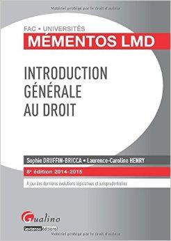 Introduction générale au droit 2014-2015