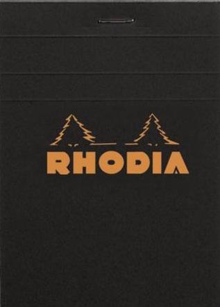 Rhodia Bloc N°12 noir (quadrillé 5x5)