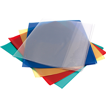 Crystal Luxe book protector 22/100 A4, Transparent blue