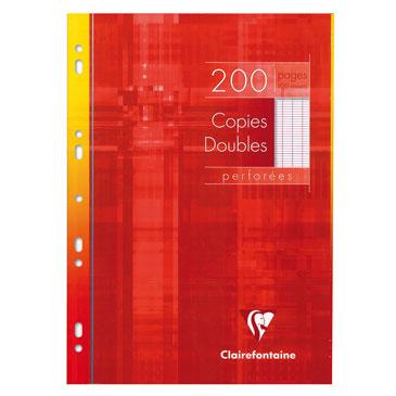 Copies doubles perforées s/étui 21×29,7 200 p séyès