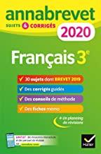 Français 3e - Sujets et corrigés