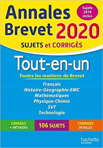 Annales Brevet 2020 Tout-en-Un