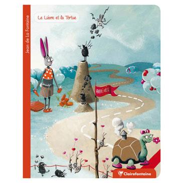 Les Fables de La Fontaine cahier piqué 17×22 96p Q.5×5 6 fables ass.