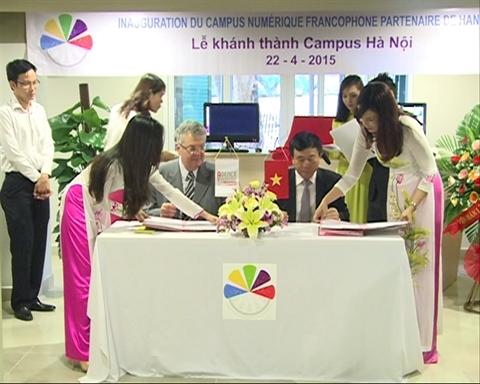 Inauguration du Campus numérique francophone partenaire de Hanoi