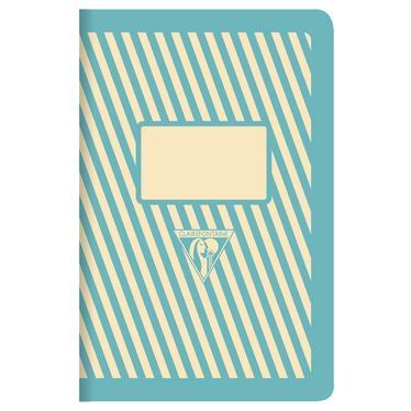 Carnet Bob Foundation 90x140, 96p./48 feuilles piquees, coloris vert, ligne