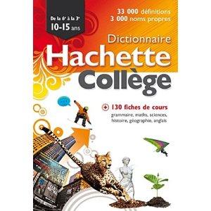 Dictionnaire Hachette collège
