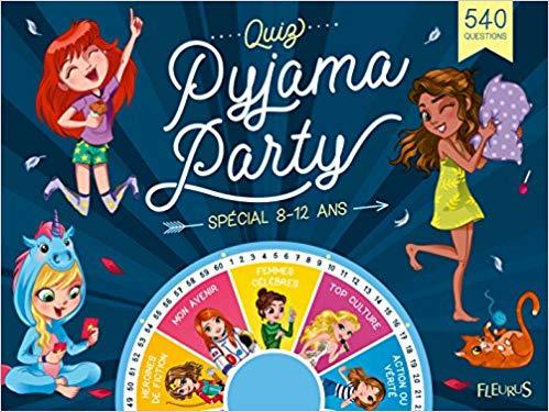Quiz et défis pyjama party