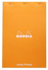 Rhodia dotPad N°19 orange (grille de points)