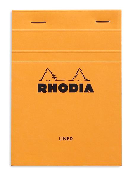 Rhodia Bloc N°13 orange (quadrillé 5x5)