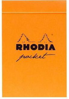 Rhodia bloc Pocket orange (quadrillé 5x5)