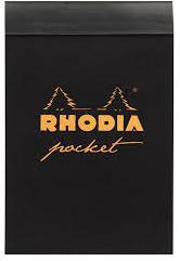 Rhodia bloc Pocket noir (quadrillé 5x5)