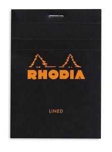 Rhodia Bloc N°12 noir (ligné)