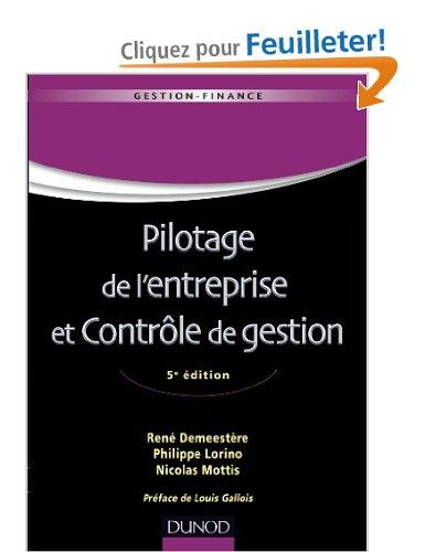PILOTAGE DE L'ENTREPRISE ET CONTROLE DE GESTION - 5EME EDITION