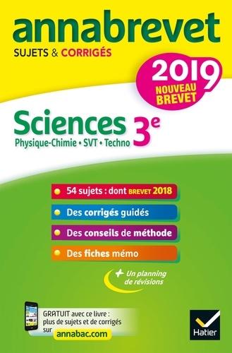 Sciences : Physique-chimie, SVT, Technologie 3e - Sujets et corrigés