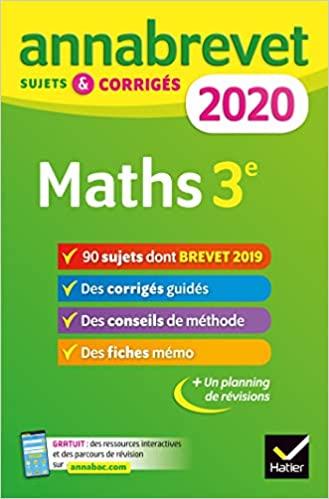 Maths 3e - Sujets et corrigés