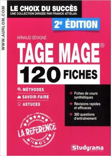 TAGE MAGE 120 FICHES 2EME EDITION