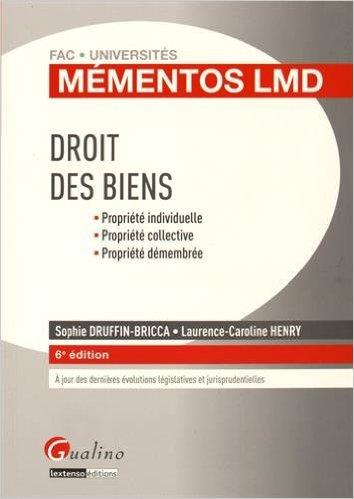 DROIT DES BIENS 2015-2016. 6E EDITION