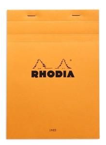Rhodia bloc N°16 orange (ligné + marge)