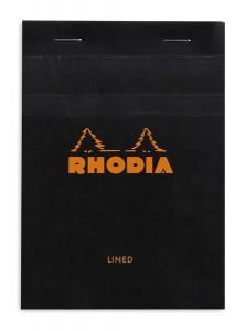 Rhodia Bloc N°13 noir  (ligné)