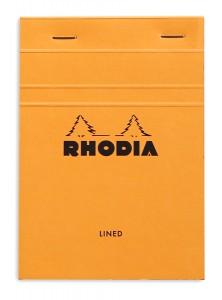 Rhodia bloc n°14 noir (ligné)