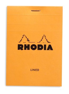 Rhodia Bloc N°12 orange (ligné)