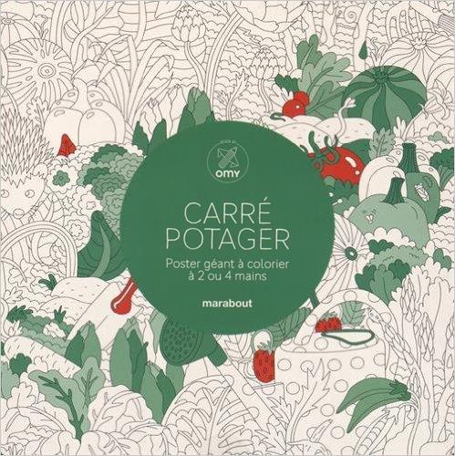 CARRE POTAGER - POSTER GEANT A COLORIER