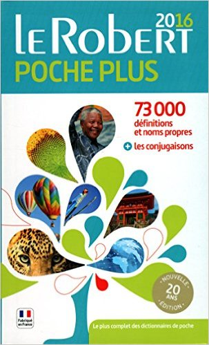 Dictionnaire Le Robert de poche plus 2016